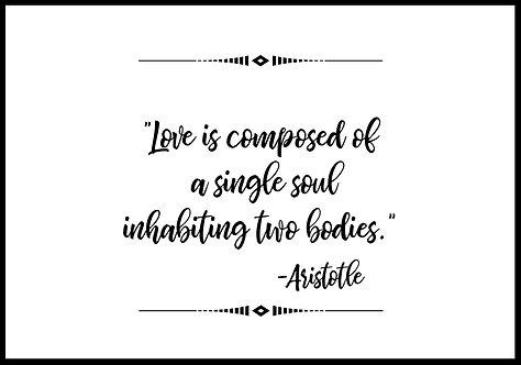 Love is composed of.. citatplakat