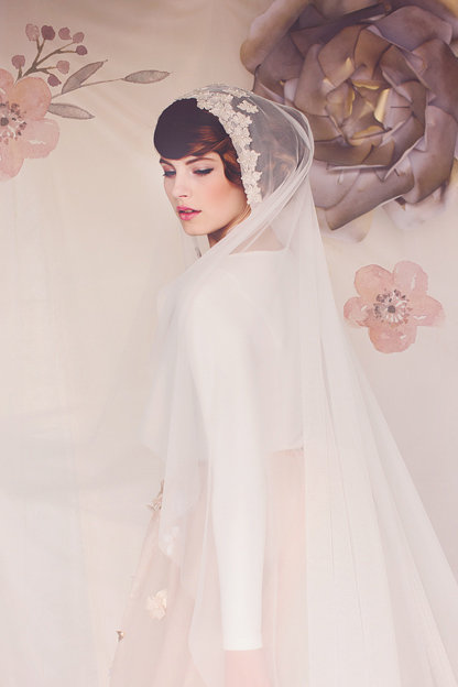 The Hazel Bridal Cap Veil #154
