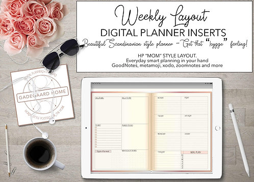HP moms style insert for Digitale planners - stickers set