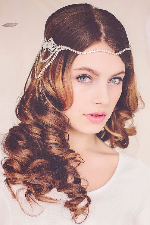 The Hannah Crystal Headpiece Halo #144