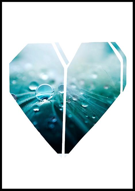 Grafisk hjerte fotokunst