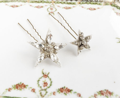 Cassiopeia Rhinestone Hair Pins, Set of 2 #160520