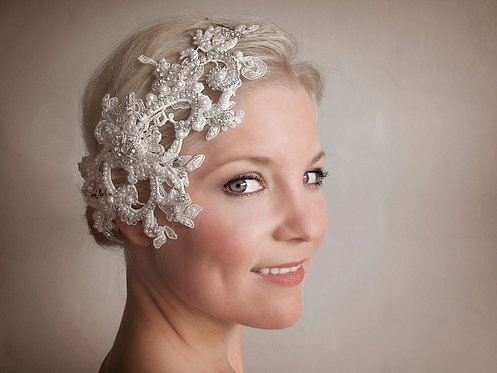 Lucinda Lace bridal headpiece