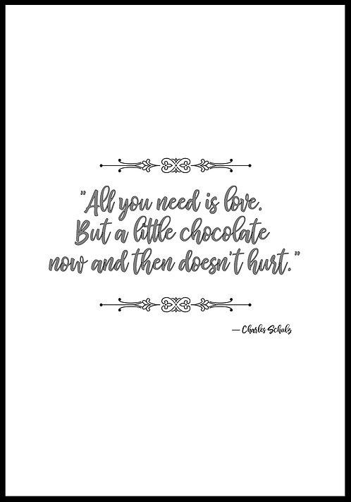 All you need is love.. citatplakat