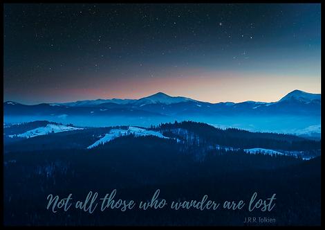 Those who wander plakat