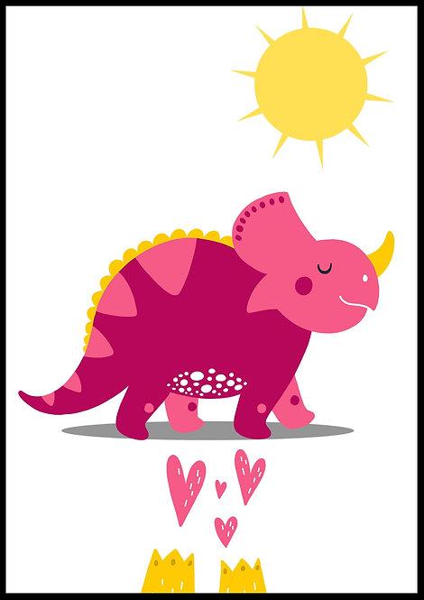 Pink dino