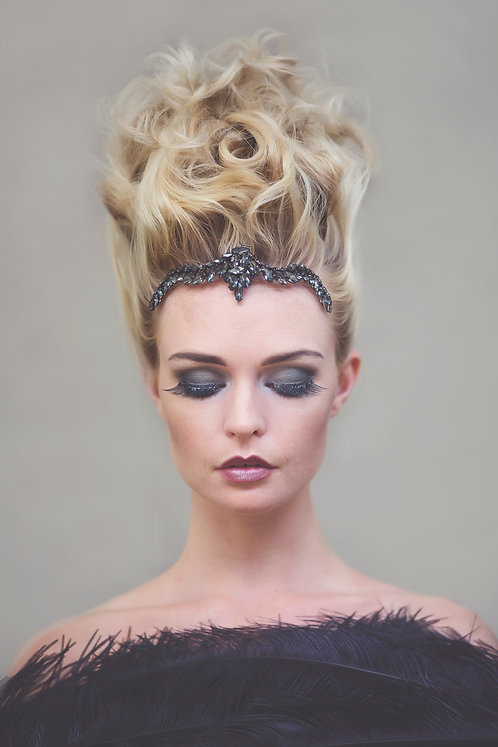 Merlina Black Crystal Tiara #311a