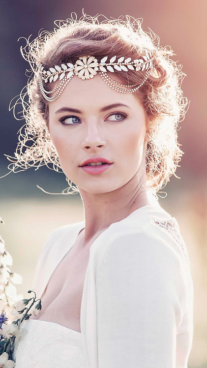 Alexandria Roman Style Bridal Headpiece #GD1037