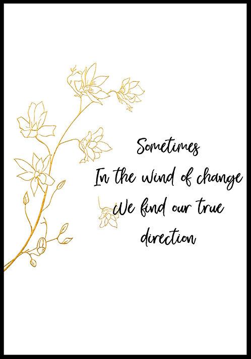 Sometimes in the wind.. citatplakat