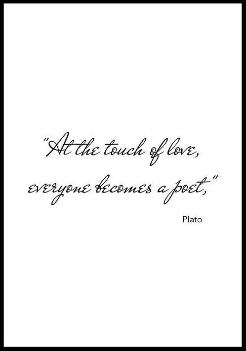At the touch of love.. citatplakat