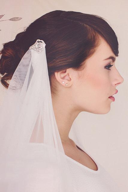 The Cora Draped Wedding Veil #155