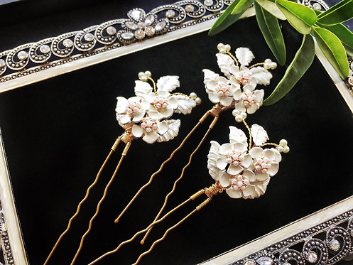 GD1056 Bridal wedding hair pin, set of 3