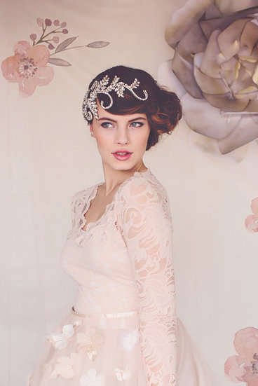 The Audrey Crystal Bridal Headpiece #139