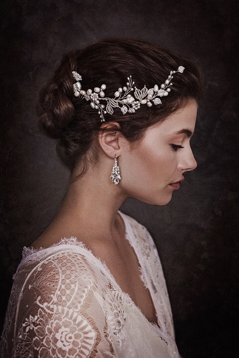 Elora Bridal Hair comb #GD1041a
