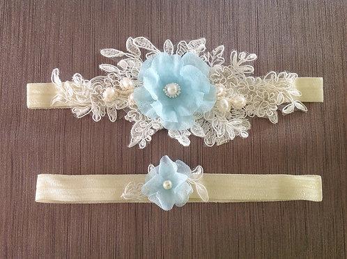 something blue bridal garter set