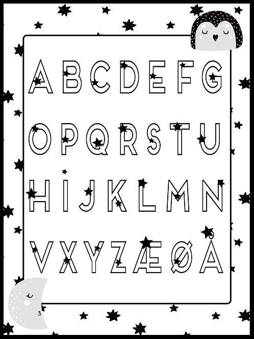 Alfabet med stjerner