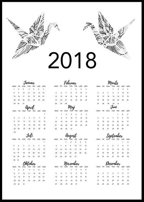 2018 kalender med poly dyr