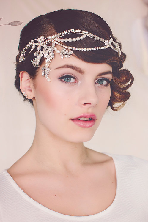The Norma Flapper Bridal Headpiece #140