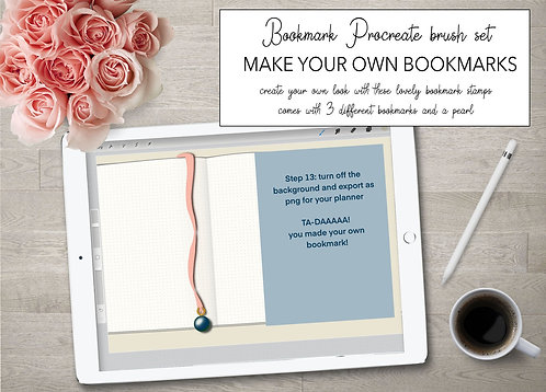 DIY procreate bookmark