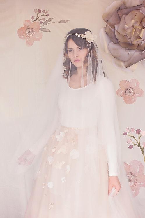 The Aurora Bridal Drop Veil #161