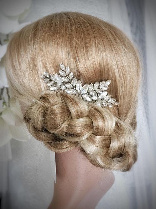 Petite crystal hair comb, Nanna mini