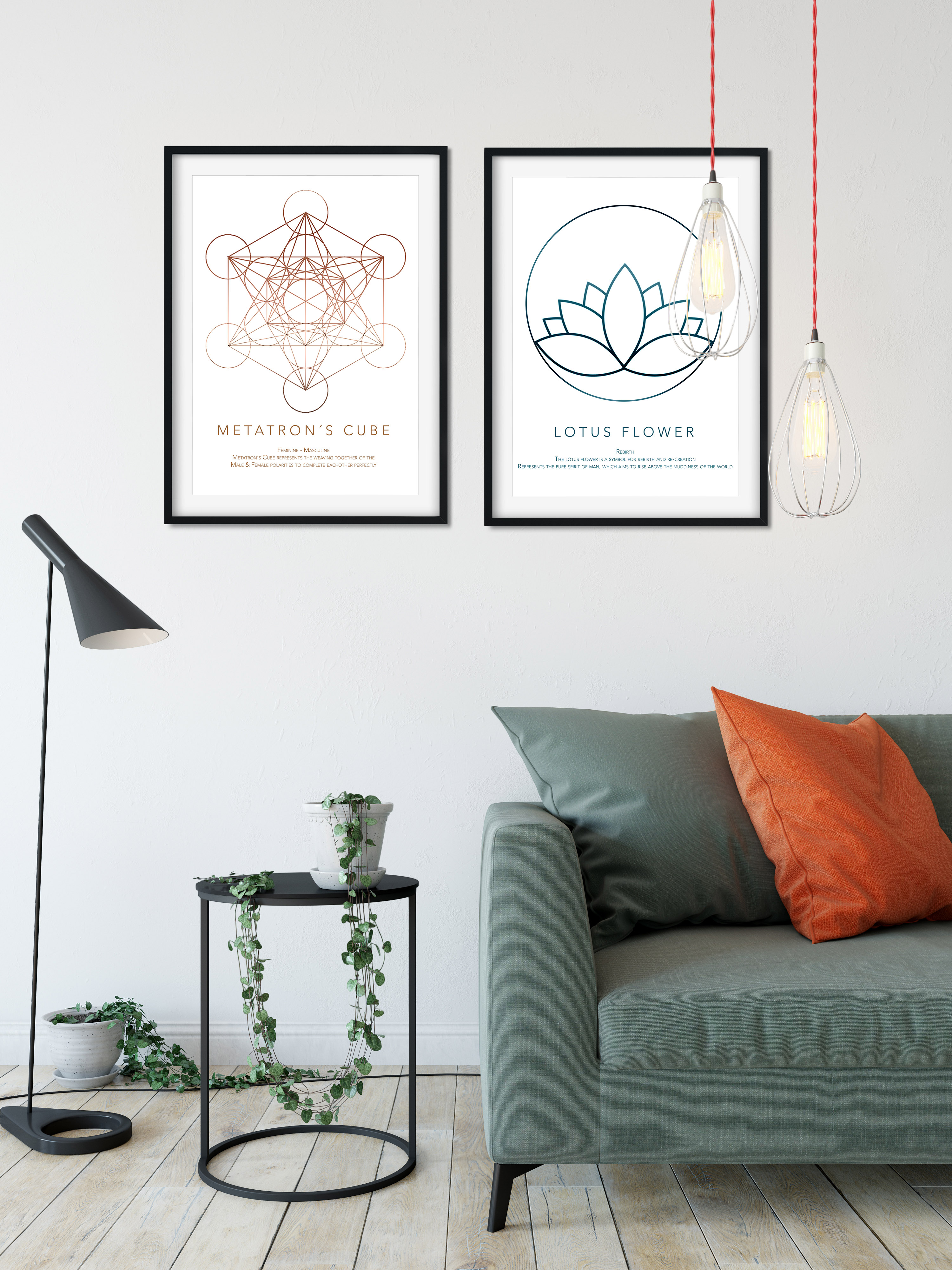 moderne plakater til hjemmet