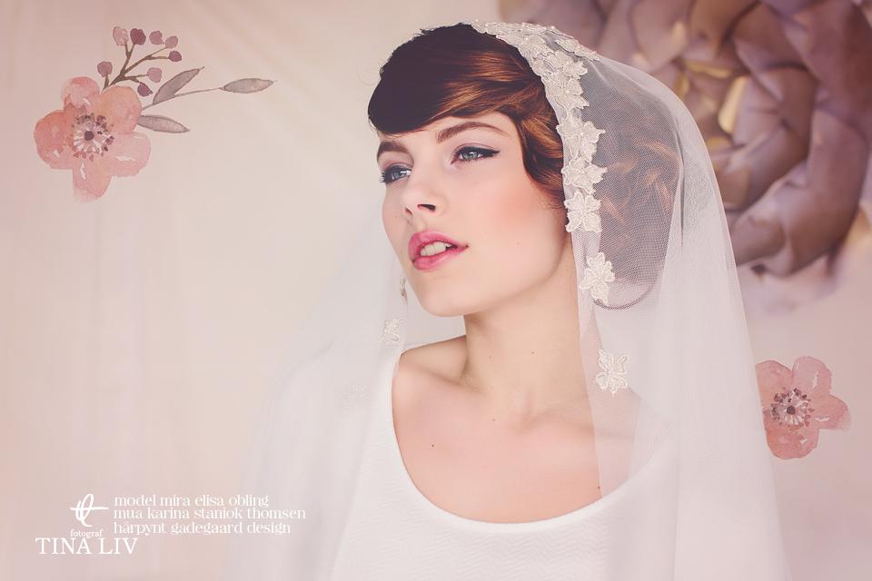 hazel bridal cap veil