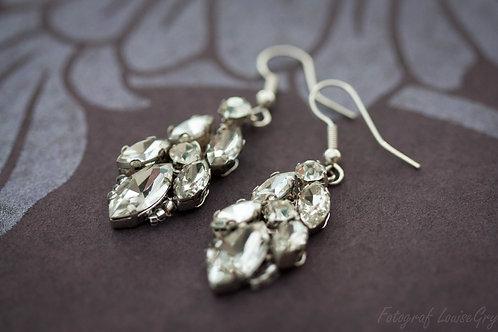 Chandelier Bridal Earrings, 925s hook