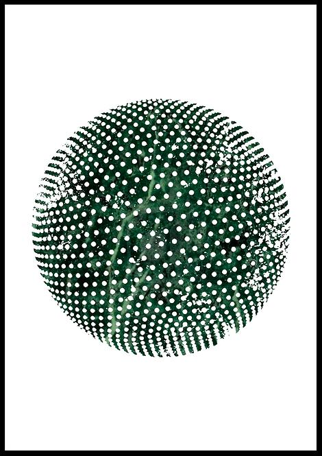 Sfære illustration i grøn marmor