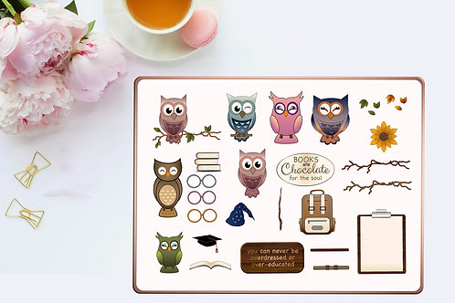 Cute Owl Digtale stickers