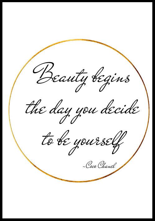 Beauty begins.. citatplakat