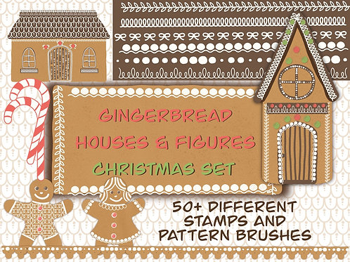 Procreate gingerbread stamps & brushes