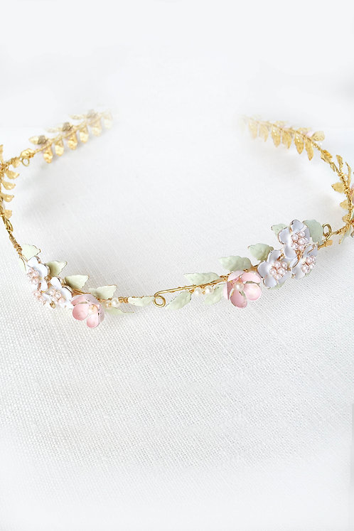 Hermia Bridal Hair vine, flower crown  #GD1060