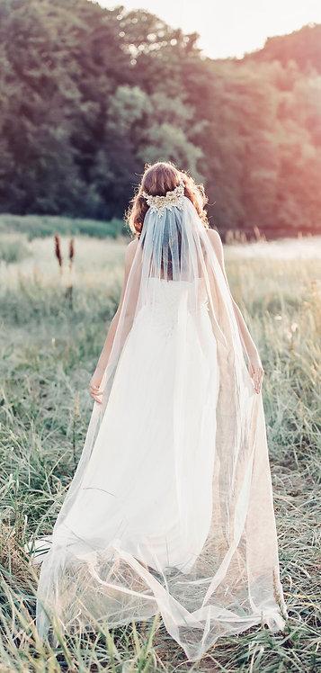 Ivory Tulle Veil - Gaia veil GD1070