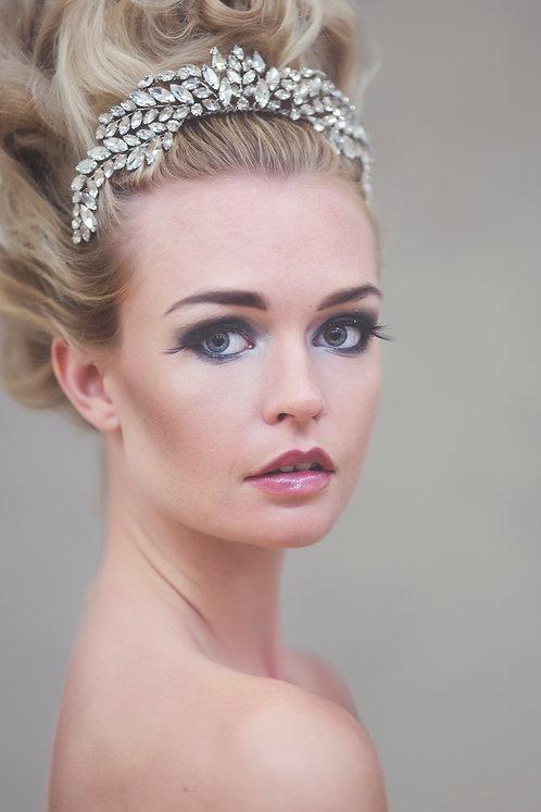 Hepburn Silver Crystal Tiara #304