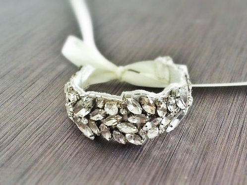 Crystal Bracelet, Bridal Cuff, Nanna Bracelet