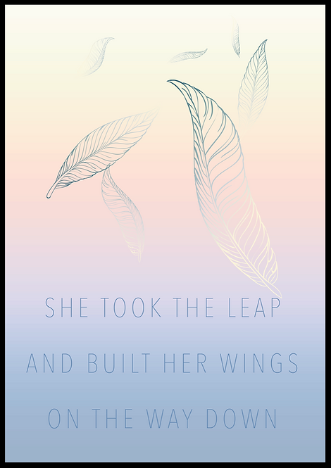 She took the leap plakat