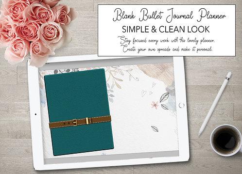 Petrol blå Bullet journal, dot grid