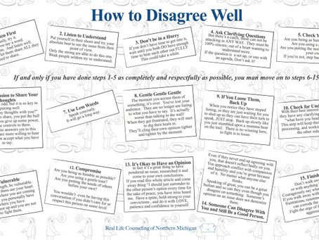 How to Disagree Well