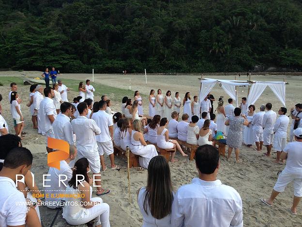 csamento pé na areia cerimonia