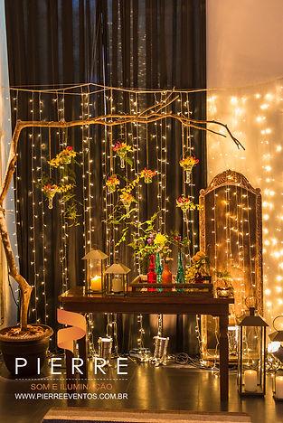 iluminação de casamento , cascata de micro lâmpda