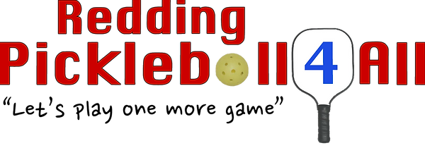 Redding Pickleball 4 All_red lettering w