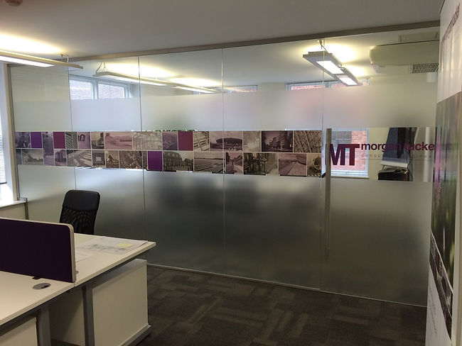 Glass partition graphics window film