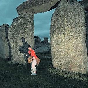 Trey leading a Shamanic wedding ceremony at StoneHenge
