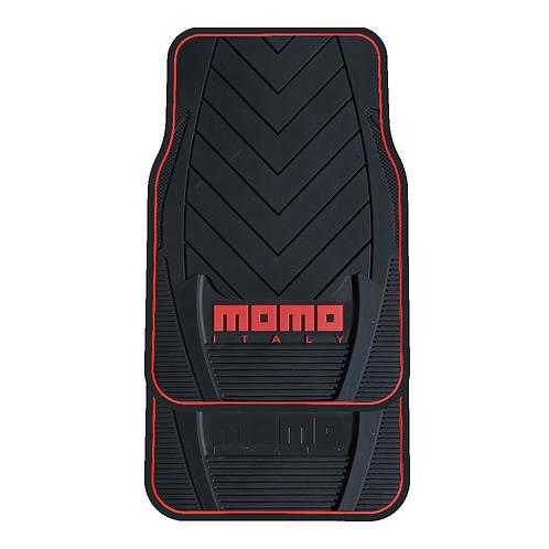 Tapete De Hule Para Auto Momo Mat PVC Black And Red