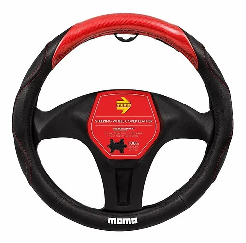 Cubierta Para Volante Momo Black And Red