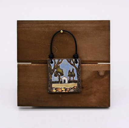 Cabin in the Woods Hanging Tile