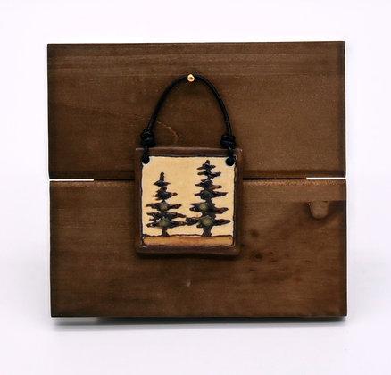 Pine Trees Hanging Tile