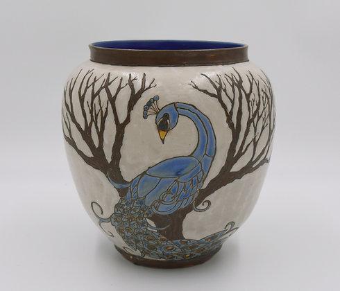 Large Peacock Vase
