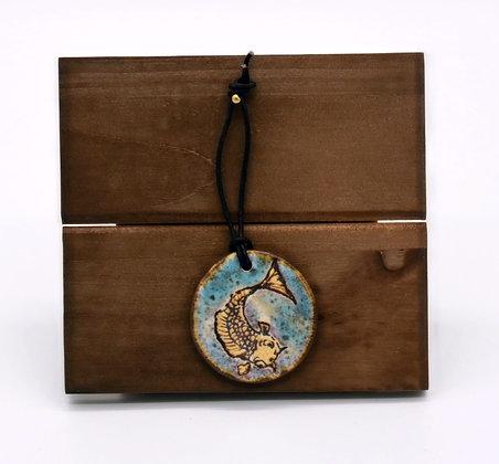 Round Koi Hanging Tile